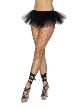 Ladies Fancy Dress - Black 80's Tutu